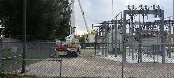 Bucket-Truck-at-Substation