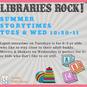 Movers & Shakers @ Carlisle Public Library | Carlisle | Iowa | United States