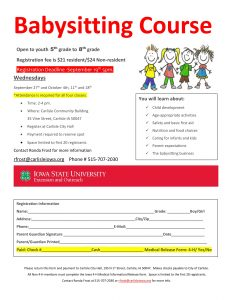 Babysitting Course @ Carlisle Community Building | Carlisle | Iowa | United States