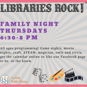 Family Night @ Carlisle Public Library | Carlisle | Iowa | United States