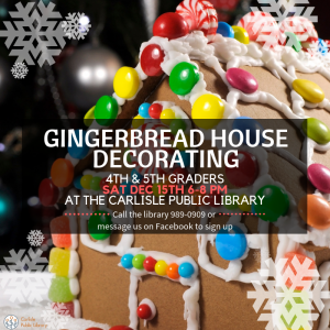 Gingerbread House Decorating (4th & 5th Graders)