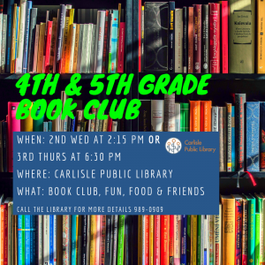 Book Club (4th & 5th Graders) @ Carlisle Public Library