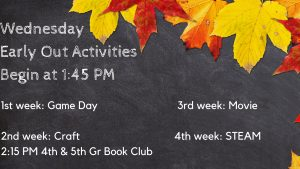 Wed Early Out Activities @ Carlisle Public Library
