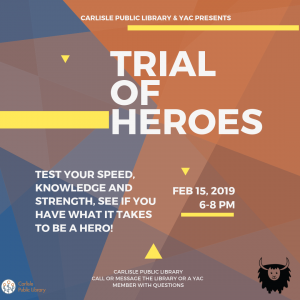 Trial of Heroes @ Carlisle Public Library