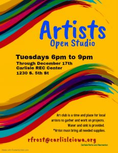 Artists Open Studio @ Carlisle Rec Center