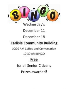BINGO at the Community Building @ Carlisle Community Building